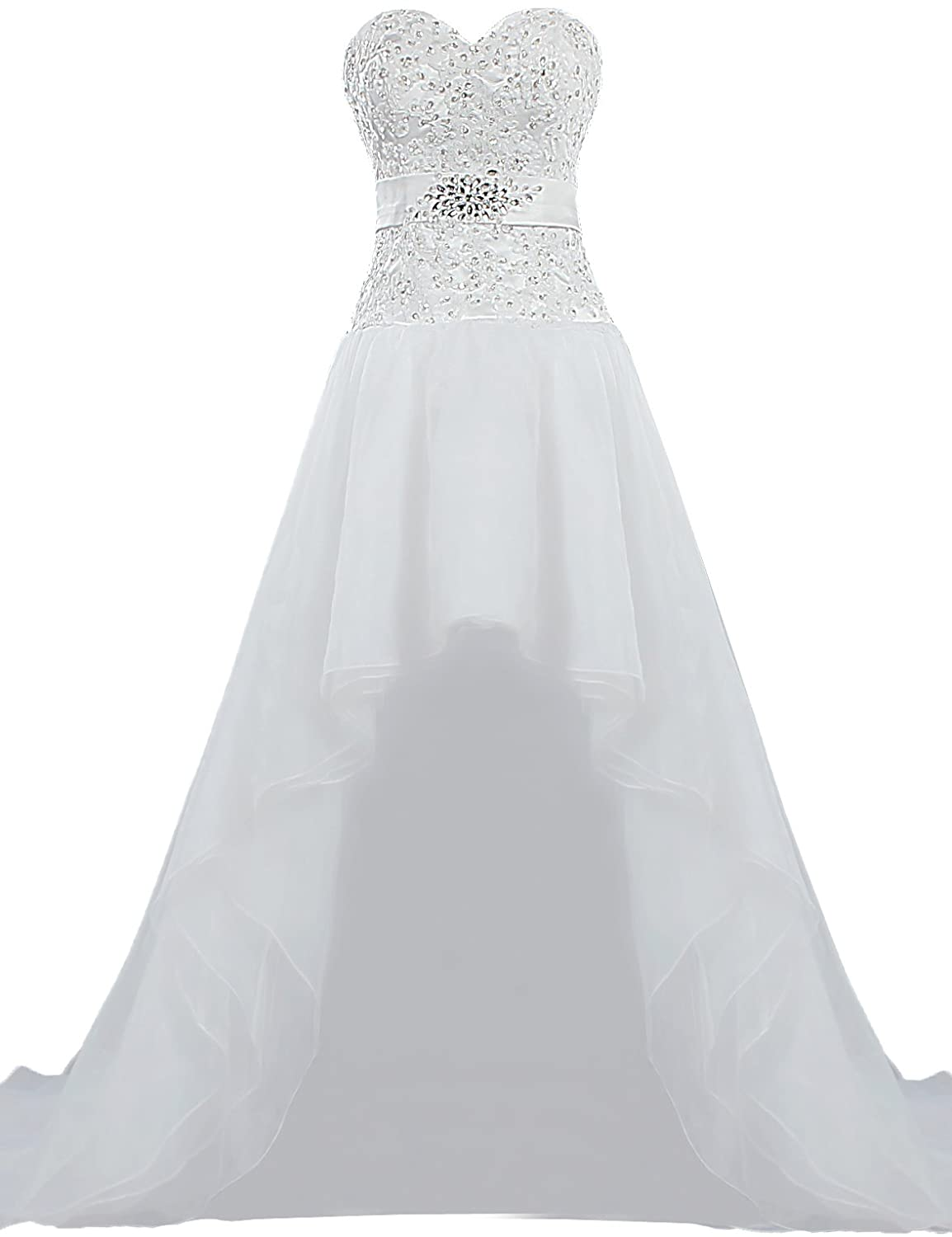 Unbranded**** Women's Casual Organza High Low Wedding Dresses Bridal Gown K300-MFN