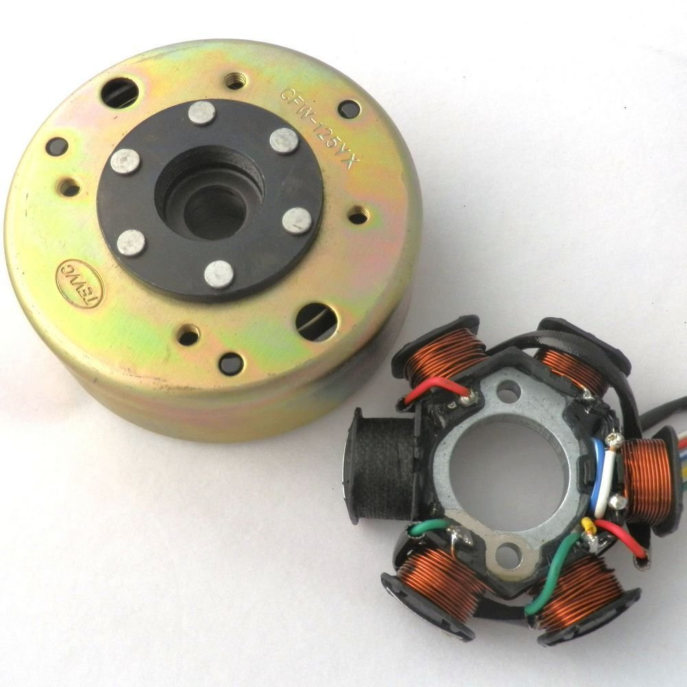 YunShuo Scooter GY6 125CC 150CC Qualified Magneto Stator AC 6 Pole Flywheel Puller