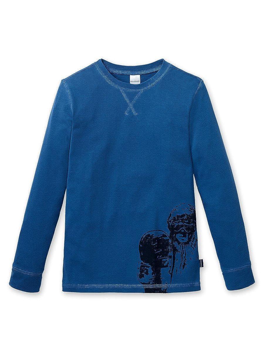 Schiesser Mix & Relax, Jungen Shirt, Langarm, Schlafanzugsjacke, royal blau, 148866