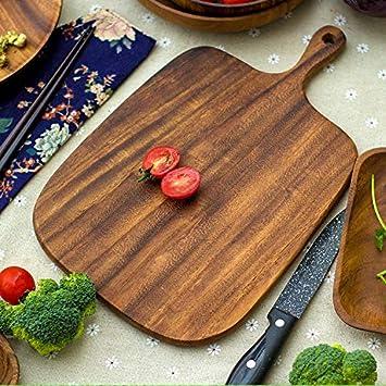 Cuberterías Combinadas Tabla Para Pizza_Nueva Tabla De Cortar Madera, Madera De Acacia Primavera, Tabla Para Pizza, Tabla De Cortar Madera Natural Verde, ...