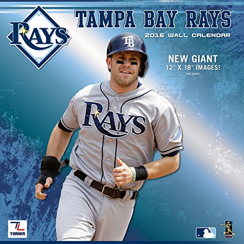 "Turner Tampa Bay Rays 2016 Team Wall Calendar, September 2015 - December 2016, 12 x 12"" (8011865)"