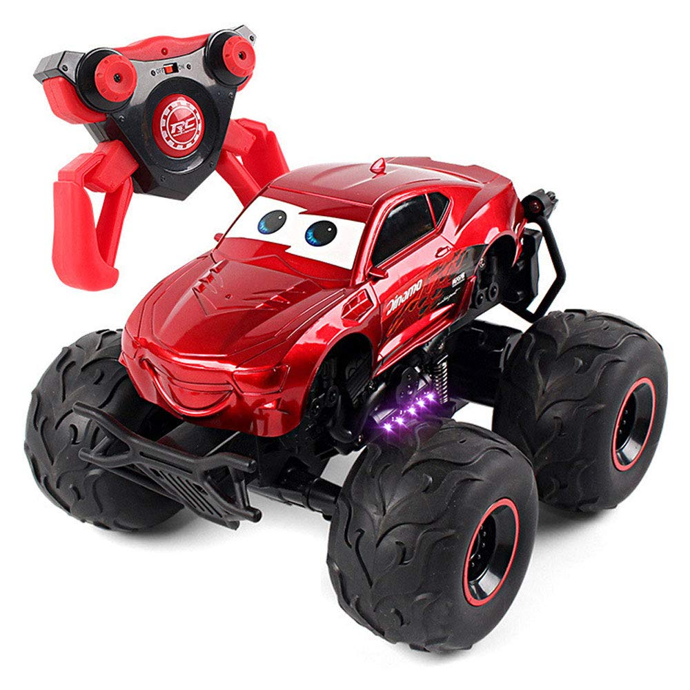 Red YYD RC Car, Electric RC Car Off Road Vehicle 2.4Ghz Radio Remote Control Car 360° Spin Monster Truck Dancing Stunt Cartoon Toy Car,Yellow