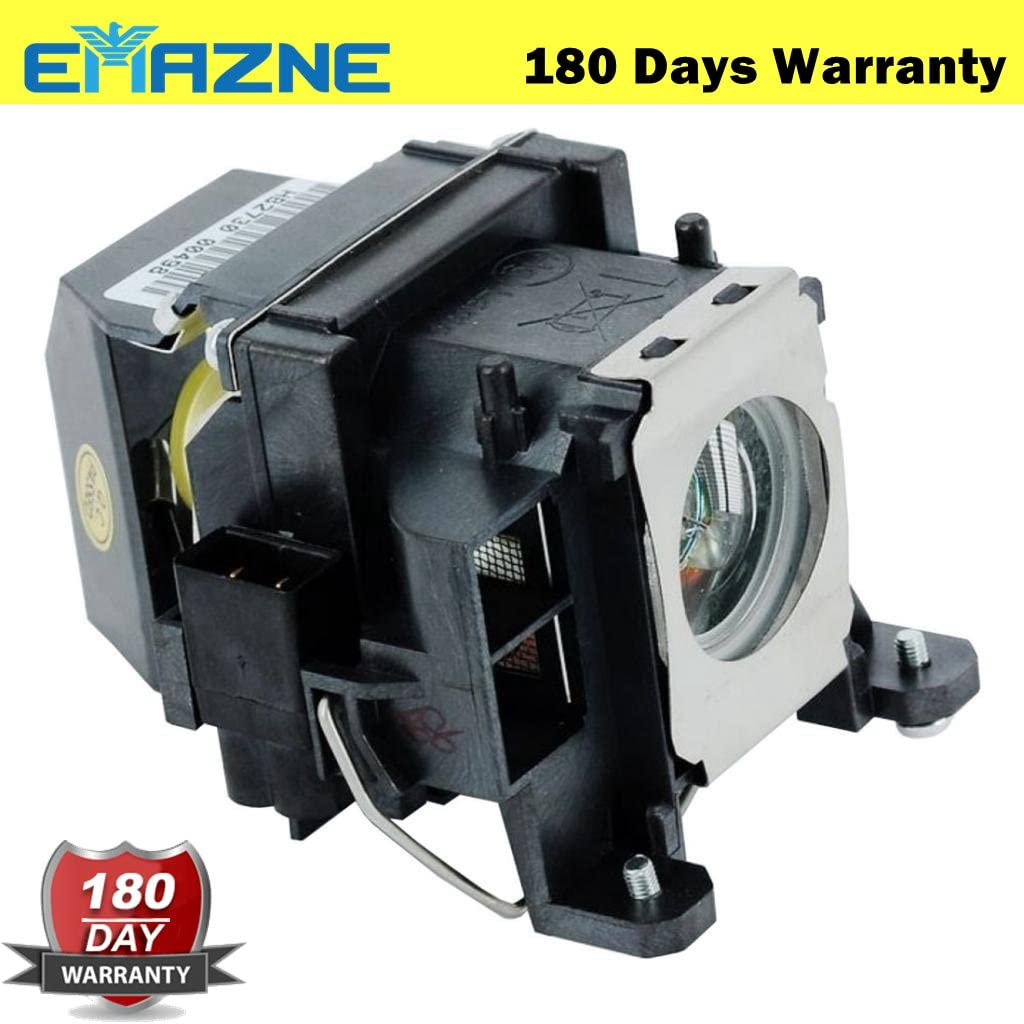 Emazne ELPLP48//V13H010L48 Projector Replacement Compatible Lamp with Housing for Epson EB 1700 Epson Powerlite 1735W Epson EB 1720 Epson EB 1723 Epson EB 1725 Epson EB 1730W Epson EB 1735W