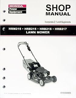 amazon com honda hr194 hr214 hra214 lawn mower service repair shop rh amazon com