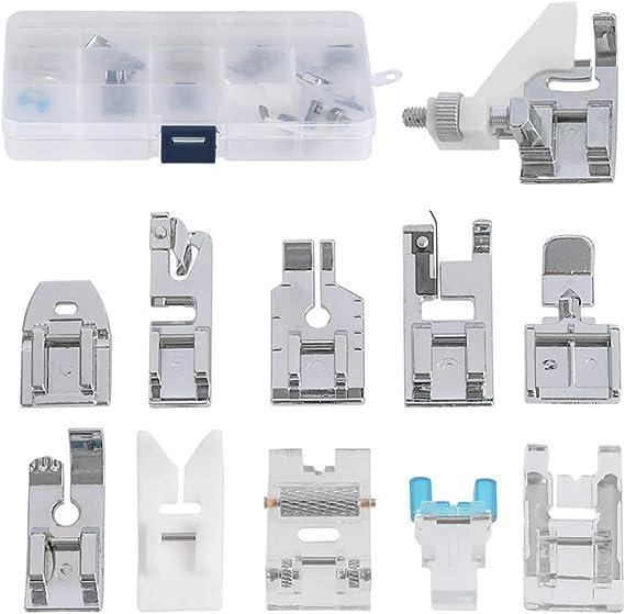 FOCCTS Kit de 11pcs pies Prensatela Accesorios Profesionales ...