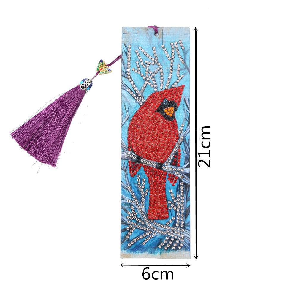 Owl /& Rabbit 2 PCS Diamond Painting Bookmaks-Diamond Painting for Adults 5D DIY Bookmarks with Tassel Arts Crafts Set Rhinestone Mosaic Gifts for Gift Christmas Ross Beauty