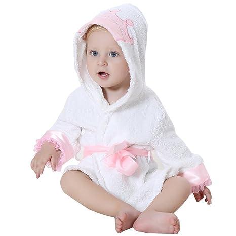 Dingang - Albornoz con capucha para bebé | supersuave y absorbente, con capucha mona