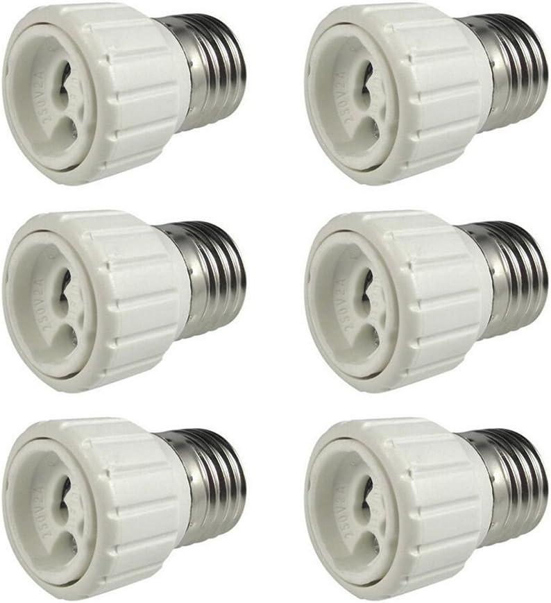 8-Pack E26 Socket,Ceramic Standard Medimun Screw Socket E26 E27 Bulb Lamp Holder,E26 Light Socket with Wire Lead for Halogen Incandescent LED Light Bulb