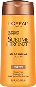 L'Oreal SPF 20 Sublime Bronze Self-Tanning Lotion, Medium, 150ml