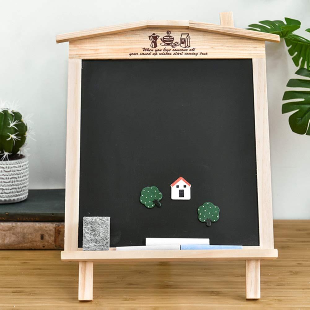 LIANGJUN Message Board Chalkboards Signs Solid Wood Hanging Bracket Coffee Shop Bar Sketchpad (Color : A, Size : 27x35cm) by LIANGJUN-lyj (Image #4)