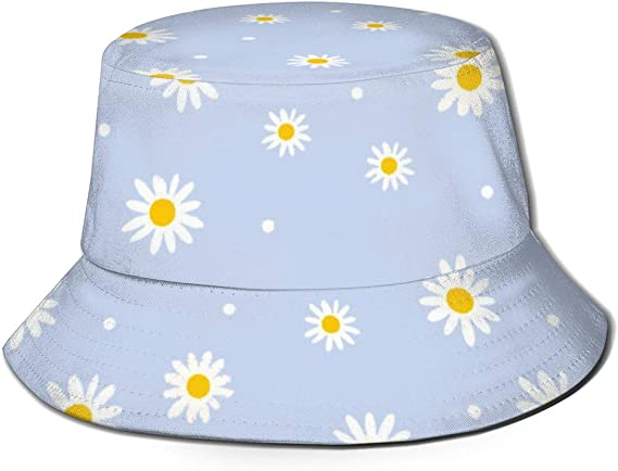 Summer Daisies Bucket Hat Women Fashion Cotton Beach Sun Hats Reversible Fisher