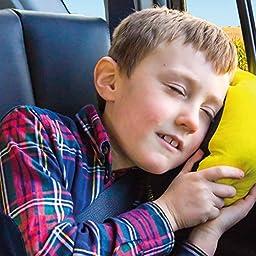 BubbleBum Sneck Neck Pillow, Black/Neon Yellow