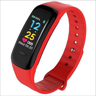 KANGLE Fitness Tracker Intelligent Couleur Écran Fréquence Cardiaque Contrôle De La Pression Sanguine Bluetooth Étape Compteur Étanche Sport Bracelet
