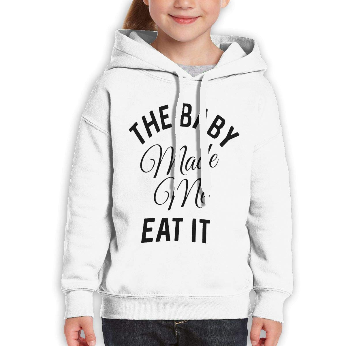 Boys Girls The Baby Made Me Eat It Teen Youth Fleeces Gray