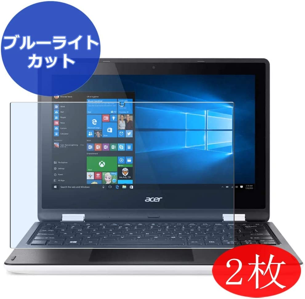 "【2 Pack】 Synvy Anti Blue Light Screen Protector for Acer Aspire R3-131T 11.6"" Screen Film Protective Protectors [Not Tempered Glass]"