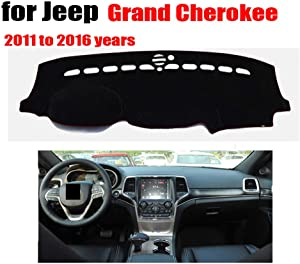 Qnice Car Dashboard Cover for Jeep Grand Cherokee 2011-2016 Left Hand Drive Dash Mat Covers Auto Dashboard Protector Accessories