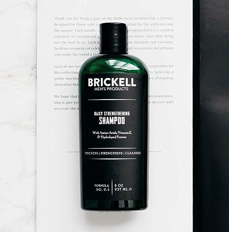 Brickell Mens Products - Champú Fortificante Diario para Hombres - Con Menta y Aceite de Árbol de Té - Natural y Orgánico - 237 ml: Amazon.es: Belleza