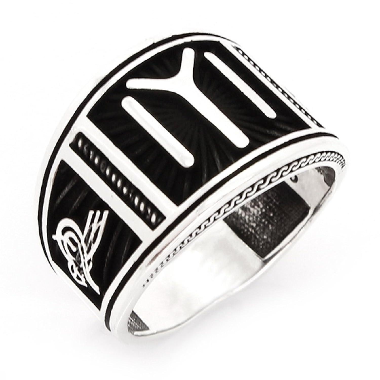 argunjewellery Ottoman Signature Kayı IYI Dirilis Ertugrul 925K Sterling Silver Men's Ring