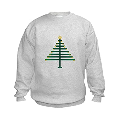 Truly Teague Kids Sweatshirt Christmas Tree Plain - Small (6-8)