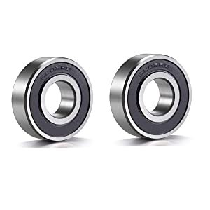 6203-RS Sealed Bearing - 17x40x12 - Lubricated - Chrome Steel (2 PCS)