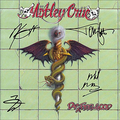 Motley Crue Signed Autographed Dr. Feelgood Record Album Cover LP Autographed Signed Facsimile