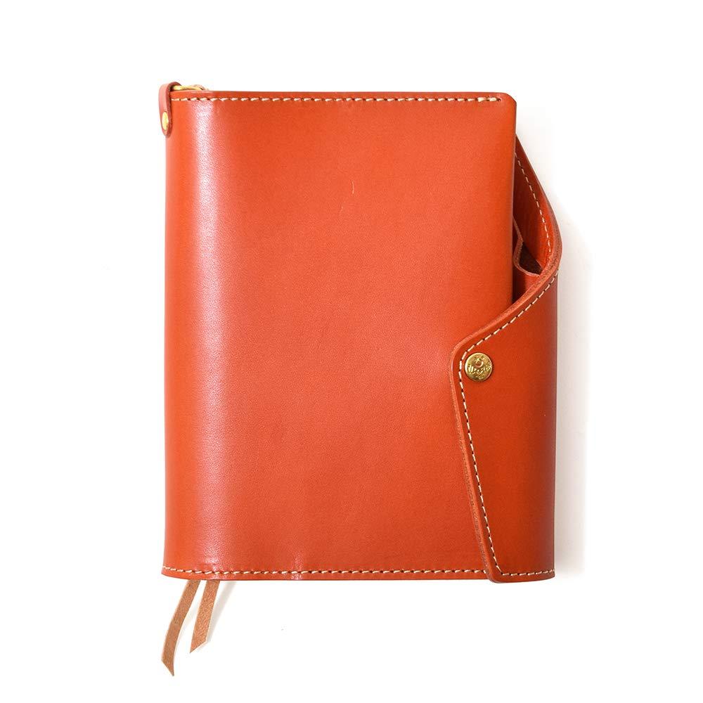 【HUKURO】本当に使える手帳カバー 手帳 カバー A5 サイズ 本革 革 レザー 栃木レザー 日本製 (オレンジ)  オレンジ B01HI6WLDC