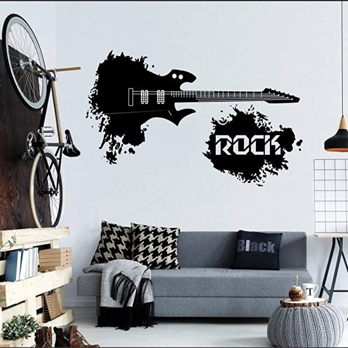 Guitarra eléctrica Abstracta con el Rock del Mundo Diciendo Splash ...