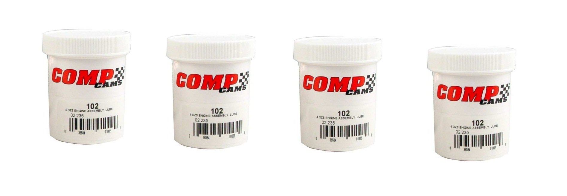 Competition Cams 102 Engine Assembly Lube, 4 oz. Jar (4)