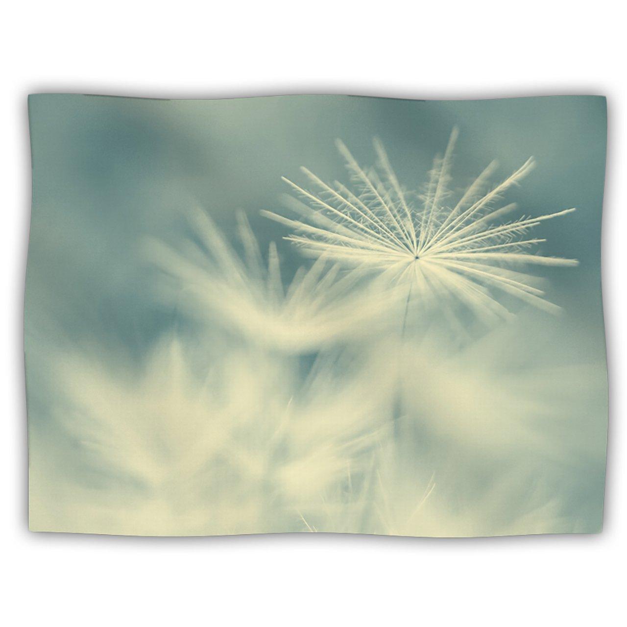 Kess InHouse Ingrid Beddoes  Snowflake Teal White  Dog Blanket, 60 by 50-Inch
