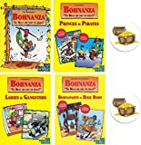 Bohnanza Card Game Bundle of Base Game and Three Expansions Plus Two Treasure Chest Buttons