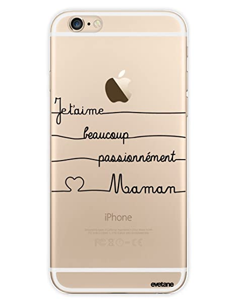 coque iphone 6 transparente ecriture