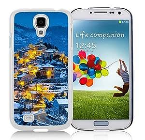 Customized Design Beautiful christmas Village White Samsung Galaxy S4 i9500 Case 1 by icecream design