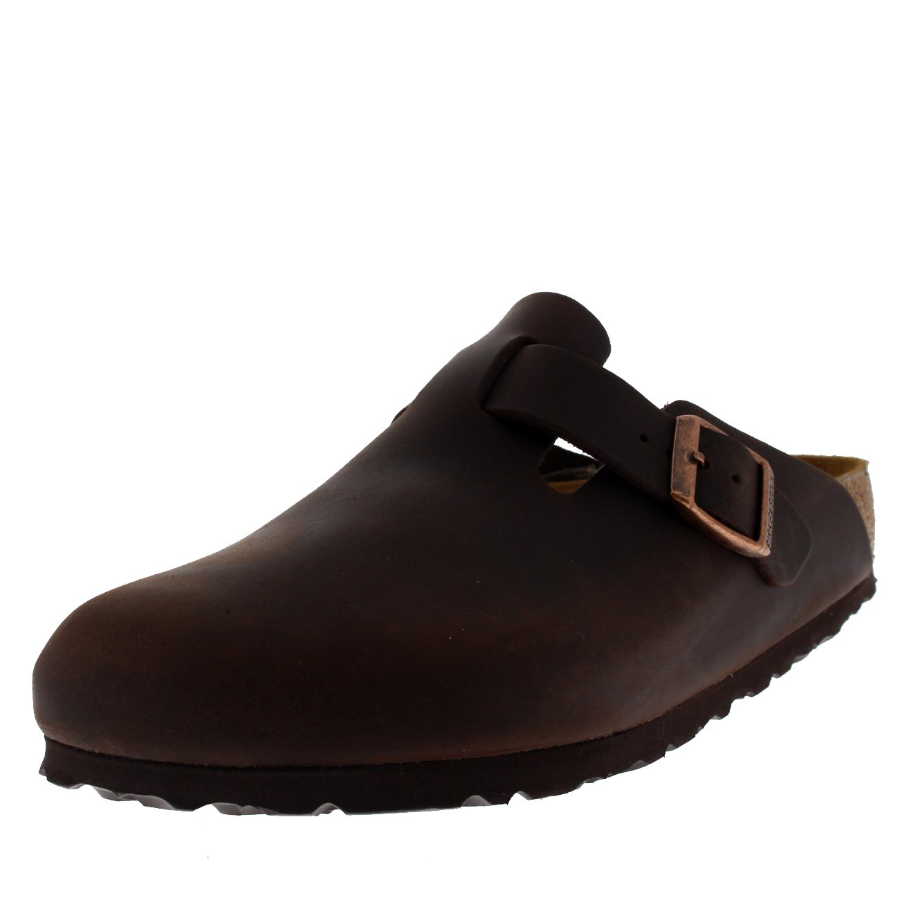 Womens Birkentstock Boston Casual Waxy Leather Sandals Holiday Clogs - Waxy Habana - 11 by Birkenstock