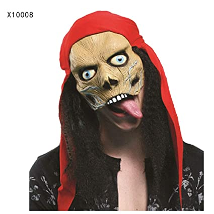 Máscara YN Halloween mueca Media Cara Adulto Cara Completa látex tocados Miedo Hombre Lobo Matar a