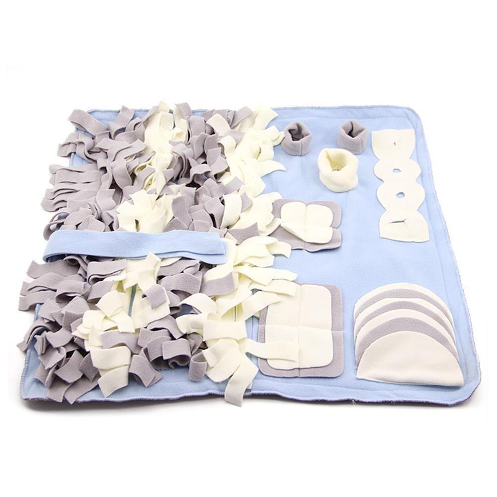 B 97x97cm B 97x97cm YunYilian Pet Bolster Dog Bed Comfort Dog Sniff mat Washable pet Training Interactive Blanket (color   B, Size   97x97cm)