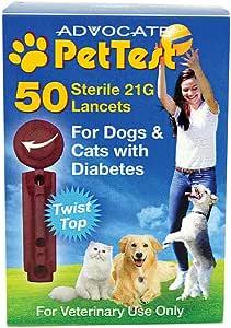 Advocate PetTest Glucose Level Testing 21 Gauge Twist Top Sterile Lancets