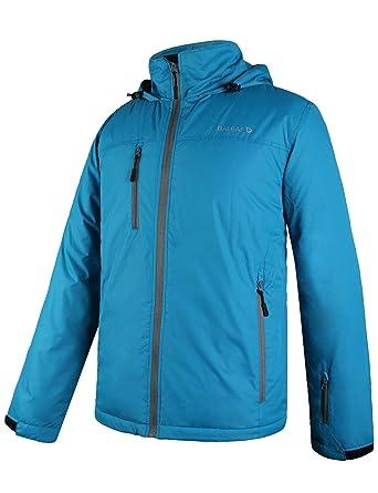3895970da Baleaf Men's Ski Mountain Jacket Winter Coat Insulated Windproof Waterproof  Outdoor Windbreaker with Hood Blue S