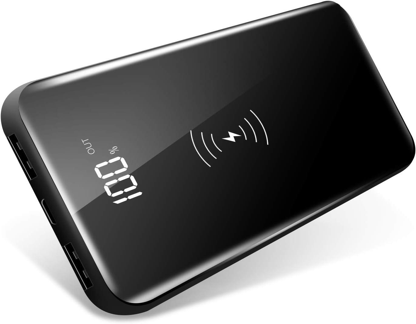 モバイルバッテリー Qi対応 10000mA