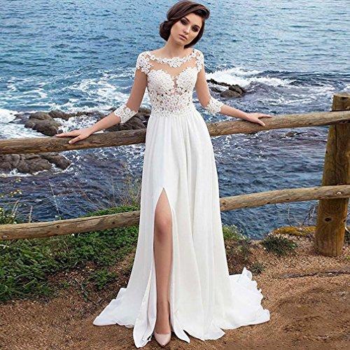 Braut Lang Sexy Kleid Temperament Spitze Kleid Bestickt Schlank EIN Abendkleid Schöne Y Rock L q5p80wxXnB