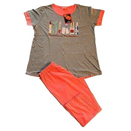 e90f6938f6d8 Russo Tessuti Pigiama Donna IRGE T-Shirt Leggins Pinocchietto 100% Cotone  Rossetti -Pesca-M: Amazon.it: Casa e cucina