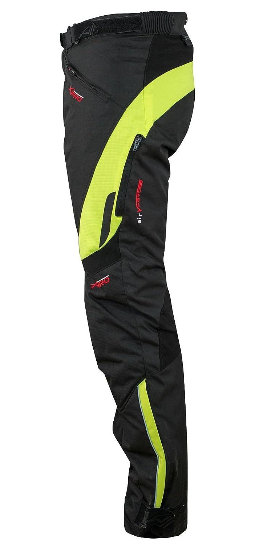 A-Pro Pantaloni Impermeabile Moto Imbottitura Termica Estraibile Traspirante Grigio 34
