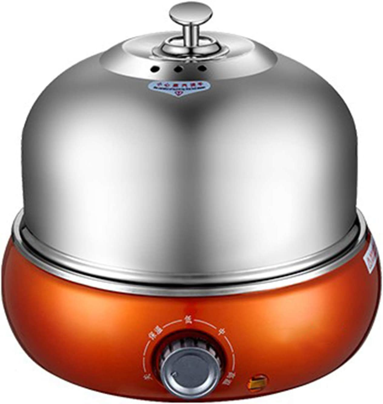 XIONGGG Egg Cooker, Electric Egg Boiler, 9 Egg Capacity, Stainless Steel with Auto Shut Off, for Soft, Medium, Hard Boiled Eggs