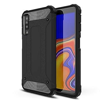 FAWUMAN Funda Samsung Galaxy A50 con Anillo Soportee,Silicona Purpurina Carcasa,Transparente Antichoque Cristal Bumper Telefono Fundas Case Cover