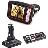Covermason 1,8 pouces sans fil LCD voiture automatique FM Transmetteur MP3 MP4 Music Player USB MMC SD à distance