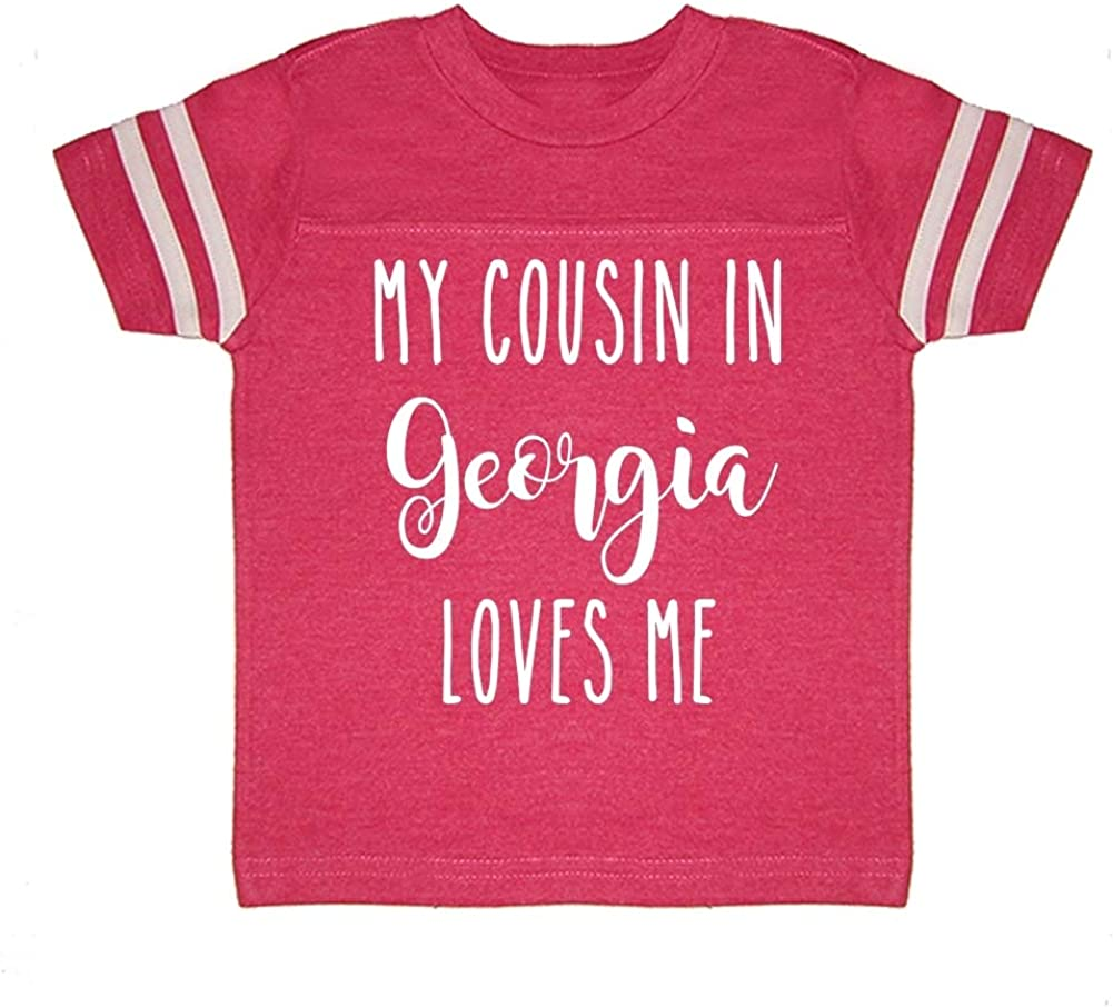 My Cousin in Georgia Loves Me Toddler//Kids Sporty T-Shirt