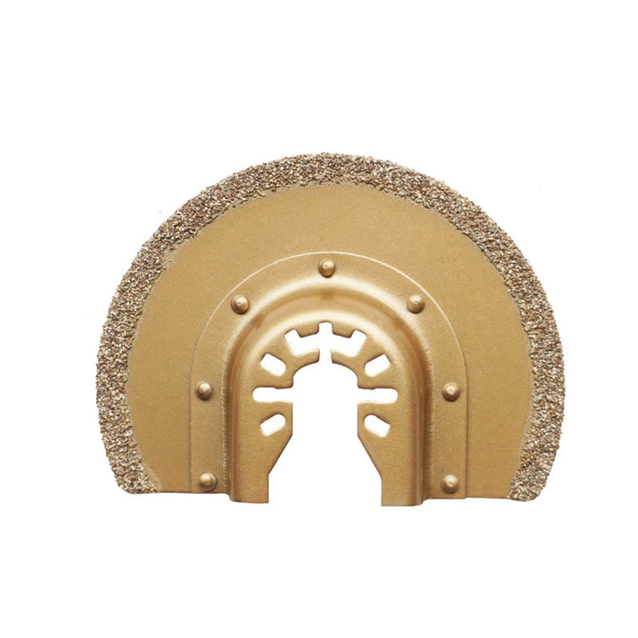 BIYI Herramienta de corte oscilante de carburo de diamante de m/últiples funciones Hojas de sierra para cer/ámica Porcelin Azulejo Herramienta de corte de metal Oro