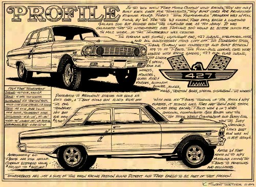 1964 Ford Fairlane Thunderbolt Art Print