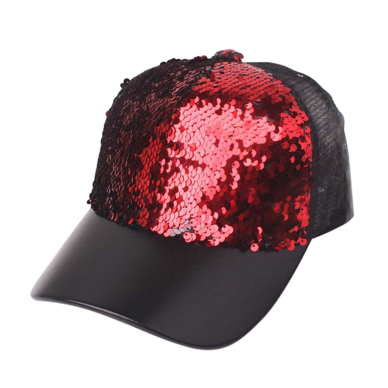 2019 New Hat Brand Unisex Sequins Patchwork Mesh Cap Fashion Baseball Cap Outdoor Net Sun Hat