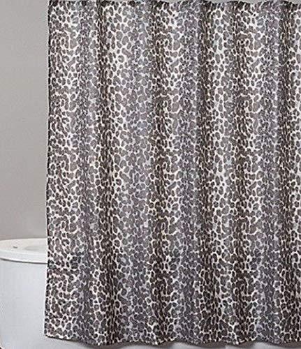 Saturday Knight Zanzibar Fabric Shower Curtain with Leopard Pattern, Jungle Bath ()