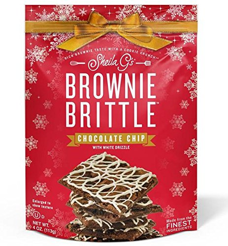 Brownie Brittle, Pack of 6 - Christmas Gift Box - Chocolate Chip Flavor - Christmas Gift Box for Family, Friends, Her, Him and more …